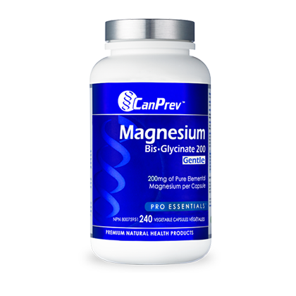 CanPrev Magnesium Bis-Glycinate 200 Gentle, 240 vegicaps