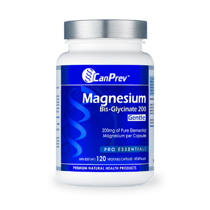 CanPrev Magnesium Bis-Glycinate 200 Gentle, 120 vegicaps