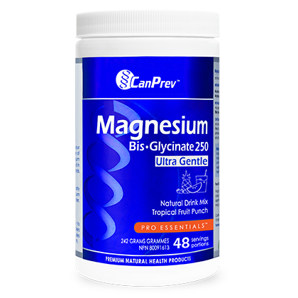 CanPrev Magnesium Bis-Glycinate Natural Drink Mix, Tropical Fruit Punch