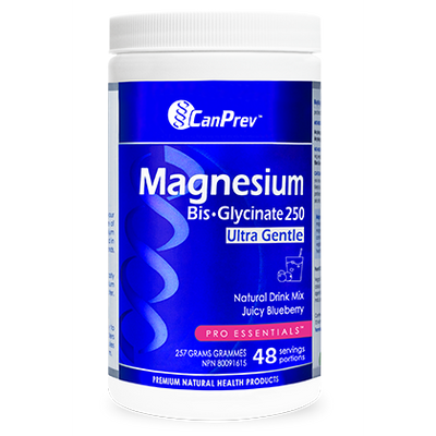 CanPrev Magnesium Bis-Glycinate Natural Drink Mix, Juicy Blueberry