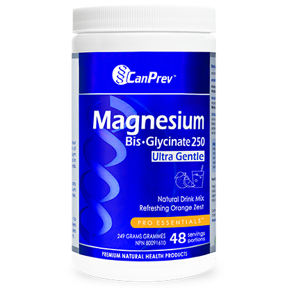 CanPrev Magnesium Bis-Glycinate Natural Drink Mix, Orange Zest