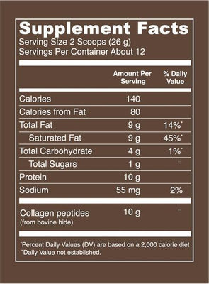 Vital Proteins Mocha Collagen Creamer, 11.2oz.