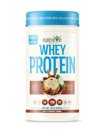 Buy Natreve Whey Protein Nutty Caramel Sundae at Pure Feast