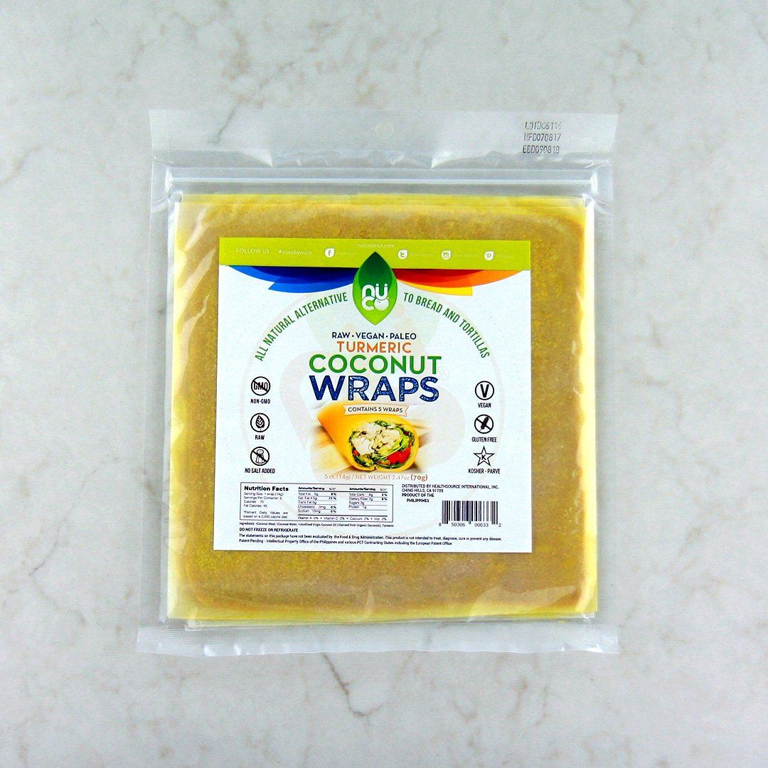 Buy Nuco Turmeric Coconut Wraps Online In Canada At Pure Feast