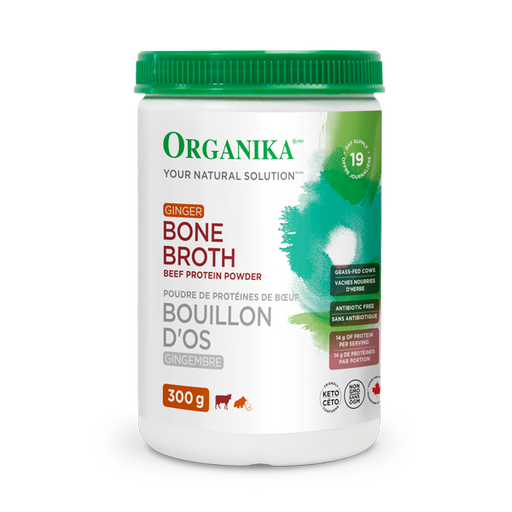 Buy Organika Beef Bone Broth Powder - Ginger at Pure Feast