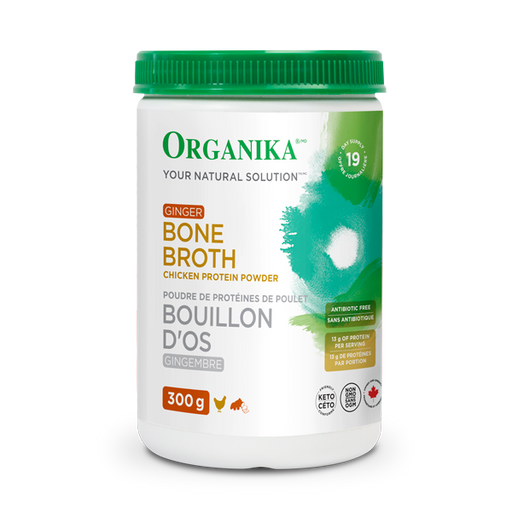 Buy Organika Chicken Bone Broth Powder - Ginger at Pure Feast
