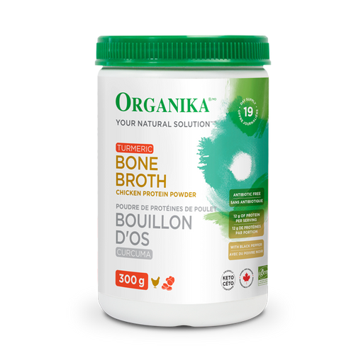 Buy Organika Chicken Bone Broth Powder - Turmeric at Pure Feast