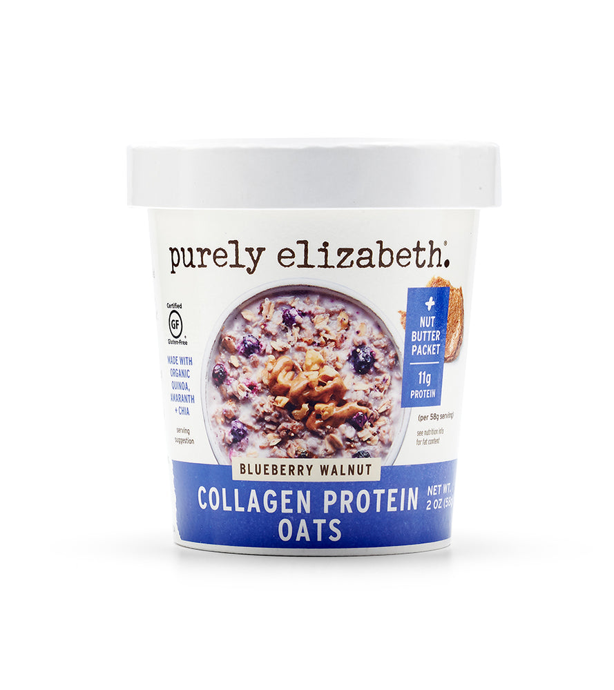 Buy Purely Elizabeth Blueberry Walnut Collagen Protein Oats Cup at Pure Feast