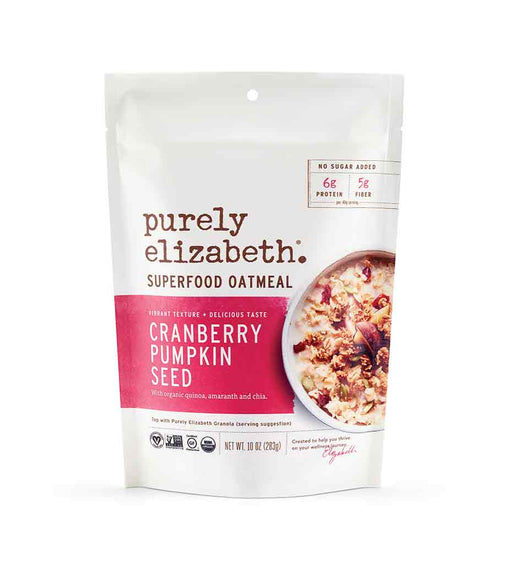 Buy Purely Elizabeth Cranberry Pumpkin Seed Superfood Oatmeal at Pure Feast