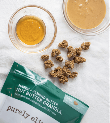Purely Elizabeth Nut Butter Granola, Maple + Almond Butter