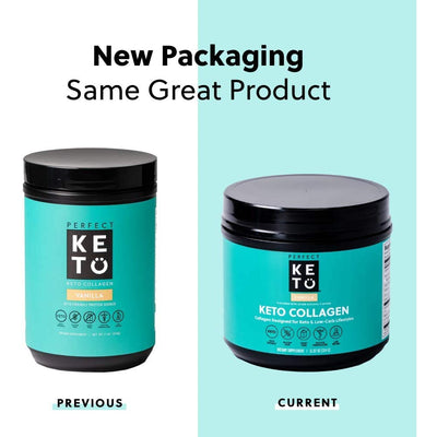 Perfect Keto Grass-Fed Keto Collagen, Chocolate (with MCT)