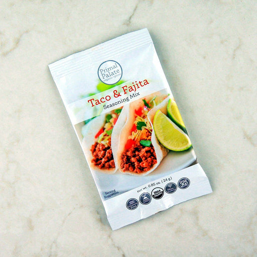 Primal Palate Organic Taco & Fajita Seasoning Mix at Pure Feast