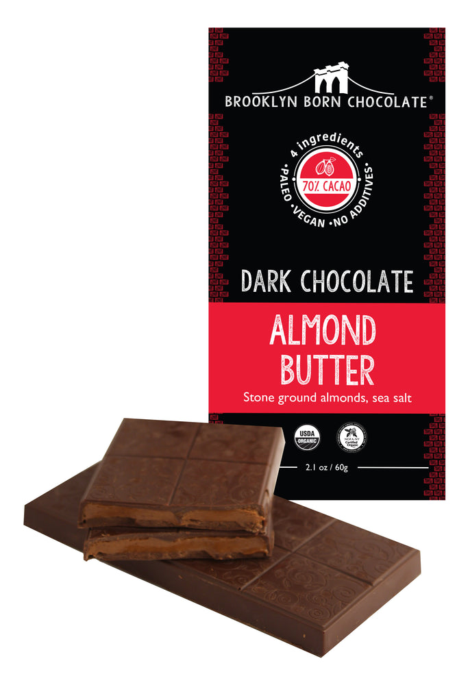 Buy Brooklyn Born Chocolate Dark Chocolate Almond Butter Paleo Bar at Pure Feast