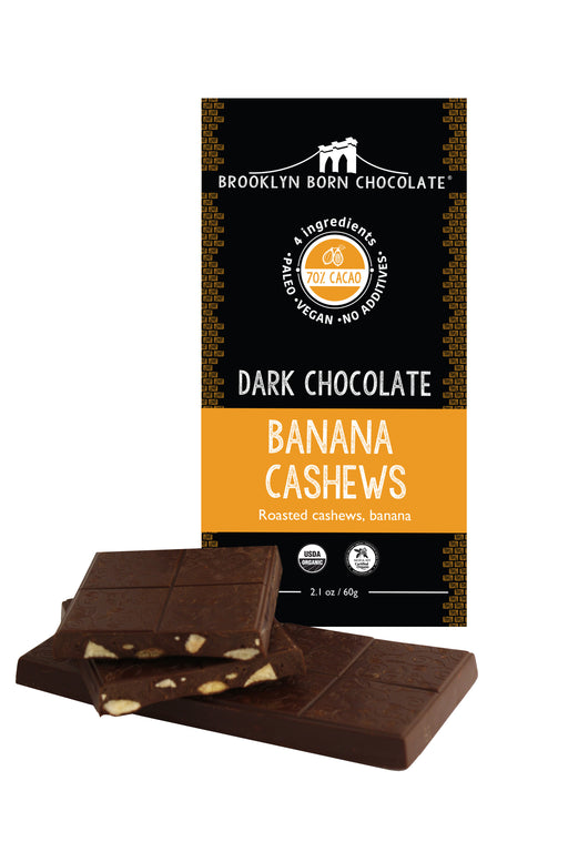 Buy Brooklyn Born Chocolate Dark Chocolate Banana Cashews Paleo Bar at Pure Feast