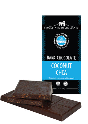 Buy Brooklyn Born Chocolate Dark Chocolate Coconut Chhia Paleo Bar