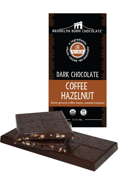 Buy Brooklyn Born Chocolate Dark Chocolate Coffee Hazlenut Paleo Bar