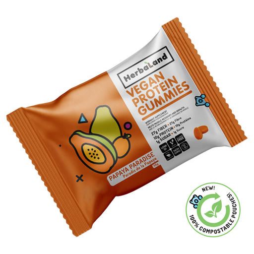 Buy Herbaland Protein Gummies Papaya Paradise from Pure Feast