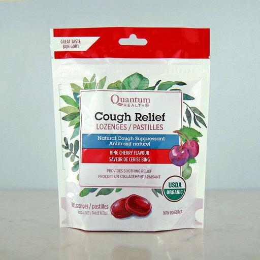 Quantum Organic Cough Relief Lozenges, Bing Cherry at Pure Feast