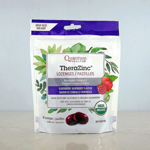 Quantum Organic TheraZinc Lozenges, Elderberry Raspberry at Pure Feast