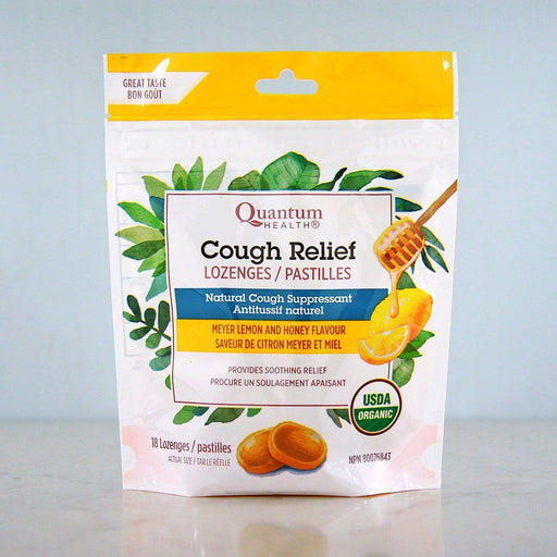 Quantum Organic Cough Relief Lozenges, Meyer Lemon at Pure Feast