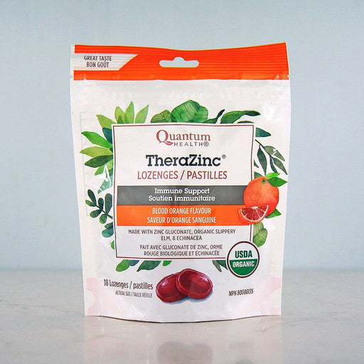 Quantum Organic TheraZinc Lozenges, Blood Orange