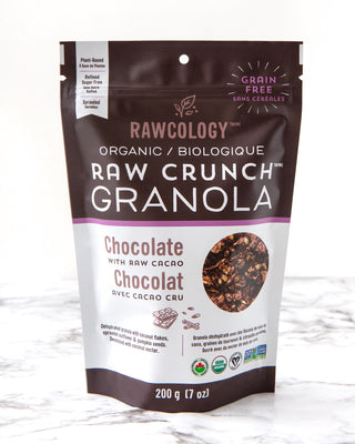 Rawcology Chocolate Chaga Raw Crunch Granola at Pure Feast
