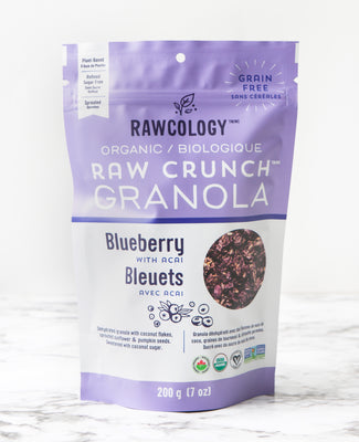 Buy Rawcology Blueberry with Acai Raw Crunch Granola at Pure Feast
