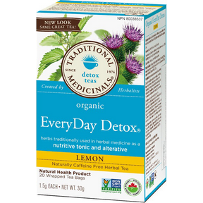 Buy Traditional Medicinals Organic Lemon Everyday Detox Tea at Pure Feast