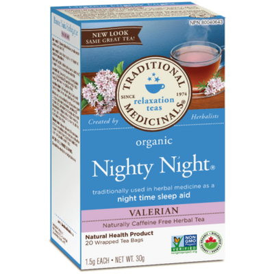 Buy Traditional Medicinals Organic Nighty Night Tea with Valerian at Pure Feast