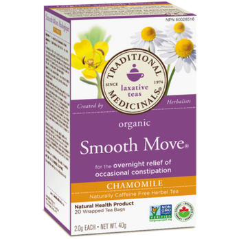 Traditional Medicinals Organic Smooth Move Chamomile Tea at Pure Feast
