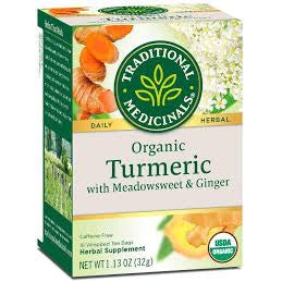 Buy Traditional Medicinals Organic Turmeric with Meadowsweet and Ginger at Pure Feast