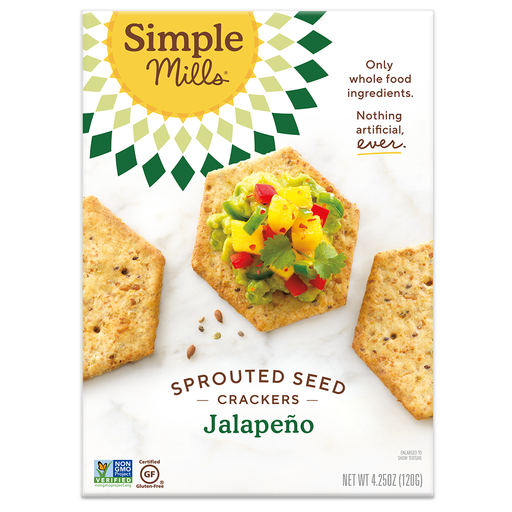 Simple Mills Jalepeno Sprouted Crackers