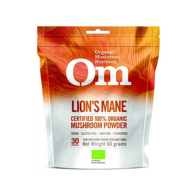 Buy OM Mushroom Lion's Mane Mushroom Superfood Powder, 60 g at Pure Feast