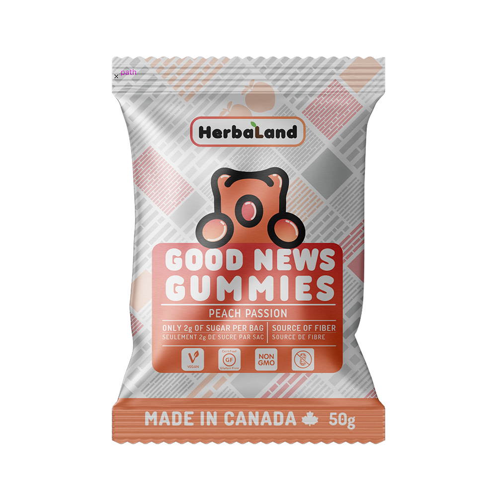 Buy Herbaland Good News Gummies Peach Passion Clean Candy from Pure Feast