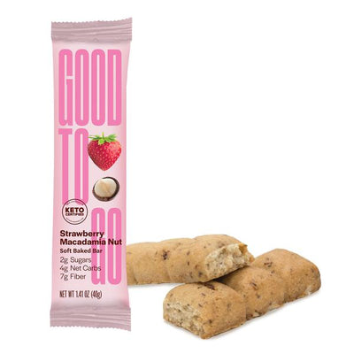 Buy Good To Go Keto Bar Strawberry Macadamia Nut at Pure Feast