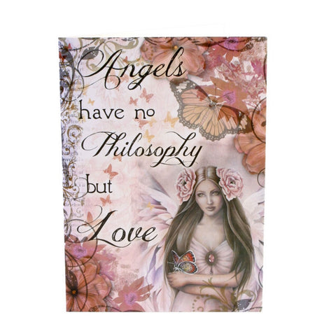 Angels Have No Philosophy Greetings Card