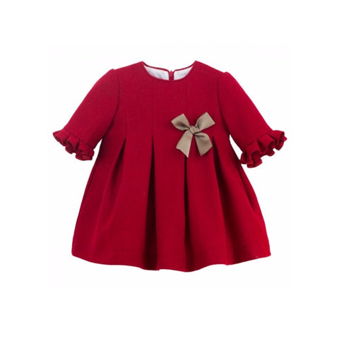 Flossy Dress Red - Doodles and Daisy Chains - Spanish Baby Clothes - Classic Baby Boutique