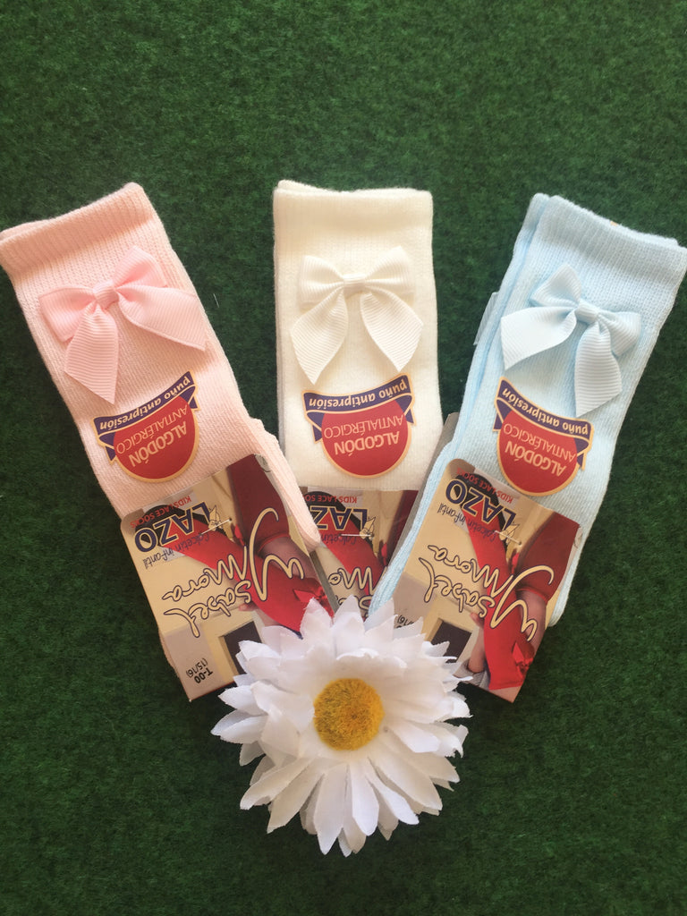 Summer Bow Sock Bundle - Doodles and Daisy Chains - Spanish Baby Clothes - Classic Baby Boutique