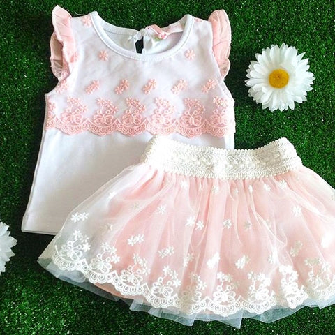 Tallulah Spanish Baby Girls Clothing Set - Doodles and Daisy Chains - Spanish Baby Clothes - Classic Baby Boutique