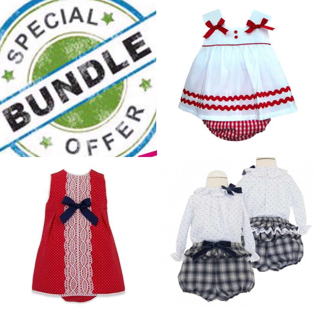 Copy of Bundle Girls 6 Months - Doodles and Daisy Chains - Spanish Baby Clothes - Classic Baby Boutique