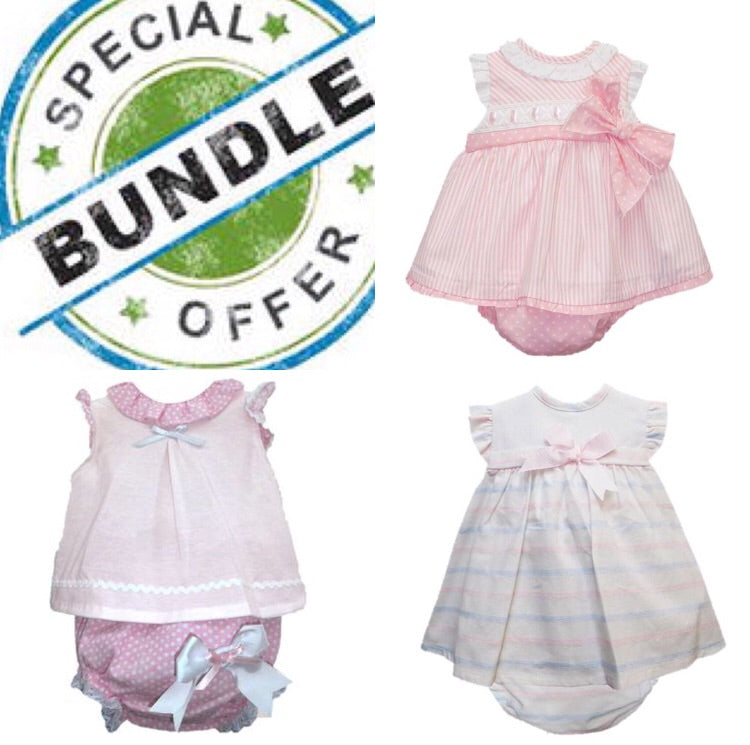 Bundle Girls 3 Months - Doodles and Daisy Chains - Spanish Baby Clothes - Classic Baby Boutique