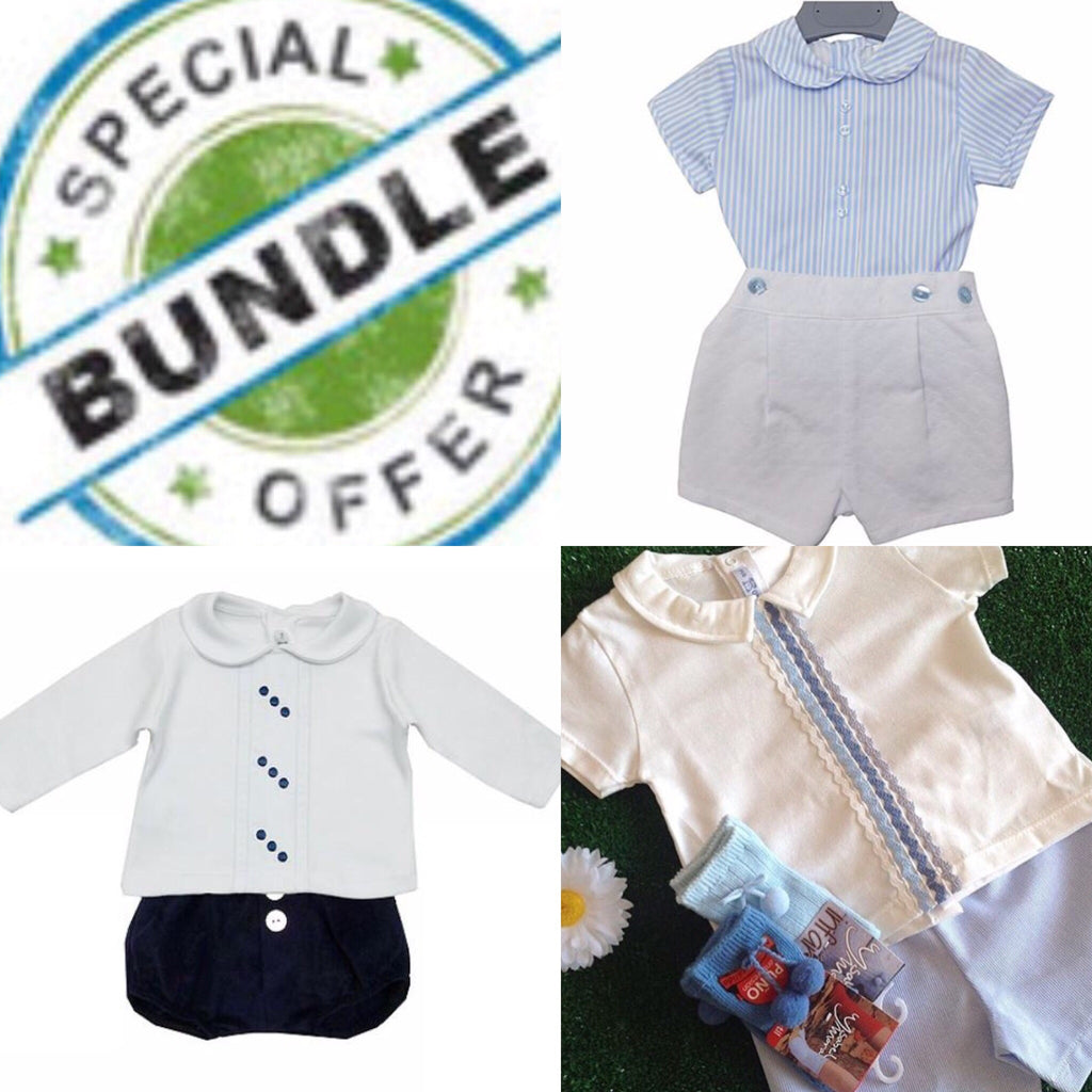 Boys Bundle 24 Months - Doodles and Daisy Chains - Spanish Baby Clothes - Classic Baby Boutique