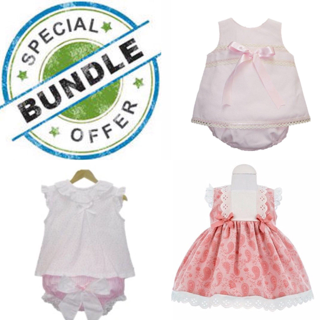 Bundle Girls 6 Months - Doodles and Daisy Chains - Spanish Baby Clothes - Classic Baby Boutique