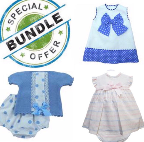 Bundle Girls 12 Months - Doodles and Daisy Chains - Spanish Baby Clothes - Classic Baby Boutique