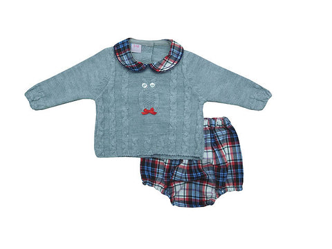 Oli Knit Set - Doodles and Daisy Chains - Spanish Baby Clothes - Classic Baby Boutique