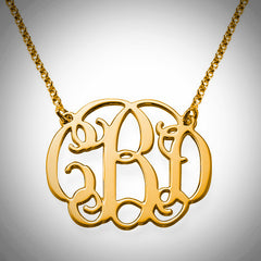 The Round Script Monogram - Gold