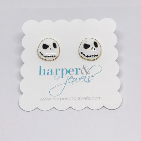 Haha Skull Stud Earrings