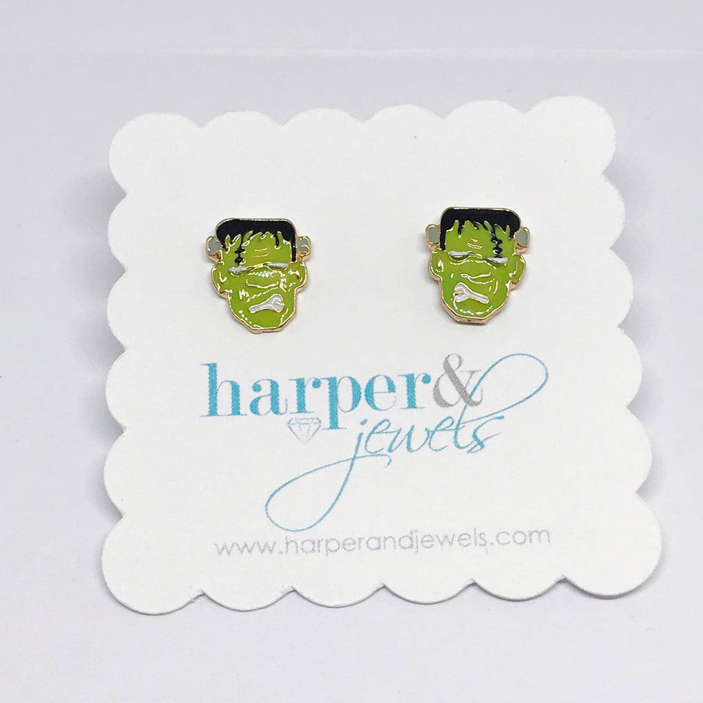 Frankenstein Stud Earrings
