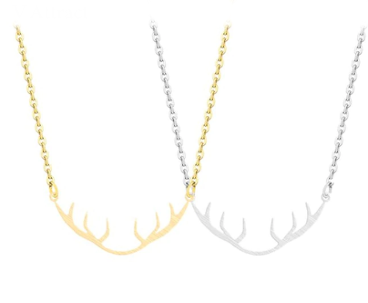 Dainty Elk Antler Necklace