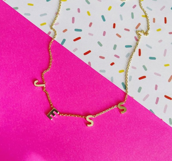 Dainty Hanging Letter Name Necklace